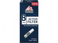 Фильтры для сигарет Gizeh 8 мм Carbon 10 шт