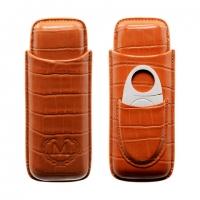 Футляр Myon 1880001 для 2-х сигар с гильотиной