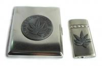 Набор портсигар и зажигалка Coney 0473105