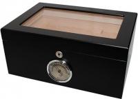 Хьюмидор  для 50 сигар черный с ключиком