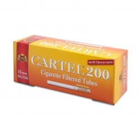 Гильзы для набивки сигарет Tubes CARTEL 200 (25 mm)