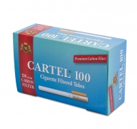 Гильзы для набивки сигарет CARTEL 100 Carbon
