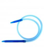 Шланг для кальяна силиконовый с акриловой рукояткой (синий)