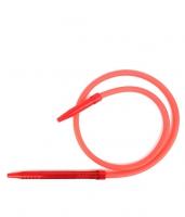 Шланг для кальяна силиконовый с акриловой рукояткой (красный)