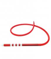 Шланг для кальяна силиконовый с металлической рукояткой Molla4 (красный)