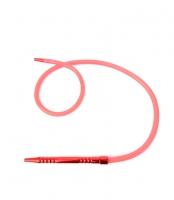 Шланг для кальяна силиконовый с металлической рукояткой (красный)