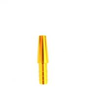 Коннектор для силиконового шланга - Метал (Gold)