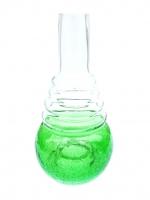 Колбы для кальяна AMY, KAYA - Форма 630 Прозрачная с зелёным (эффект битого стекла)