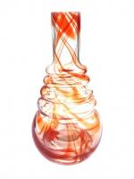 Колбы для кальяна AMY, KAYA - Форма 630 Прозрачная (оранжевые полосы)