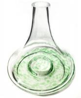 Колбы для кальяна AMY SS,MOLLA HOOKAH, KAYA - Прозрачная с зелёным узором
