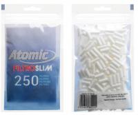 Фильтры для самокруток 6 мм (слим) Atomic 250 шт