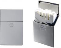 Коробка для сигарет (пластик) цвет металик 0450850