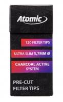 Фильтры для самокруток Atomic Slim 0163201 (угольные) 120 шт