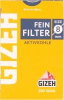 Фильтры для сигарет угольные Gizeh 106081