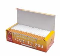 Фото 1 - Гильзы для набивки сигарет Tubes CARTEL 200 (25 mm)
